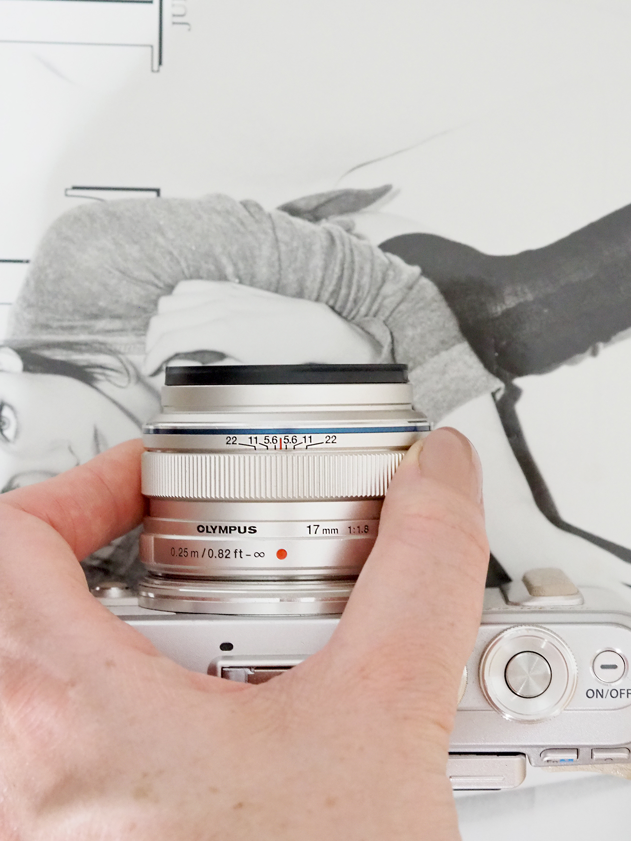 olympus pen 17mm lens focus ring