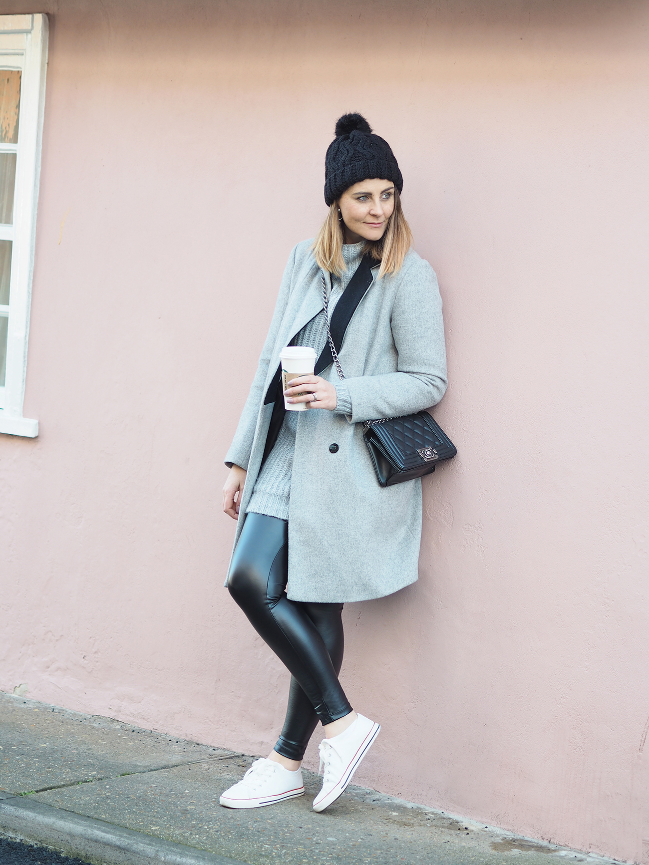 styling up leather look leggings
