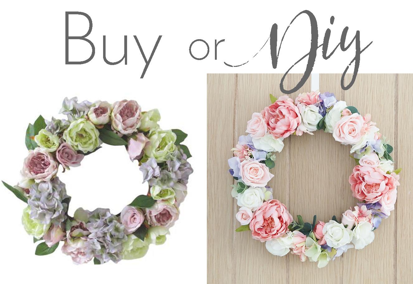 diy floral wreath peonies hydrangea