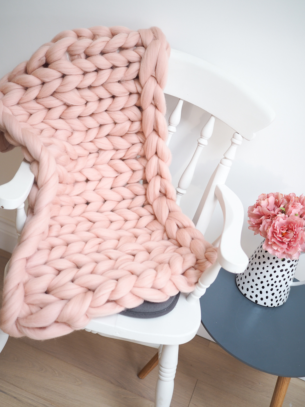 knit your own chunky blanket
