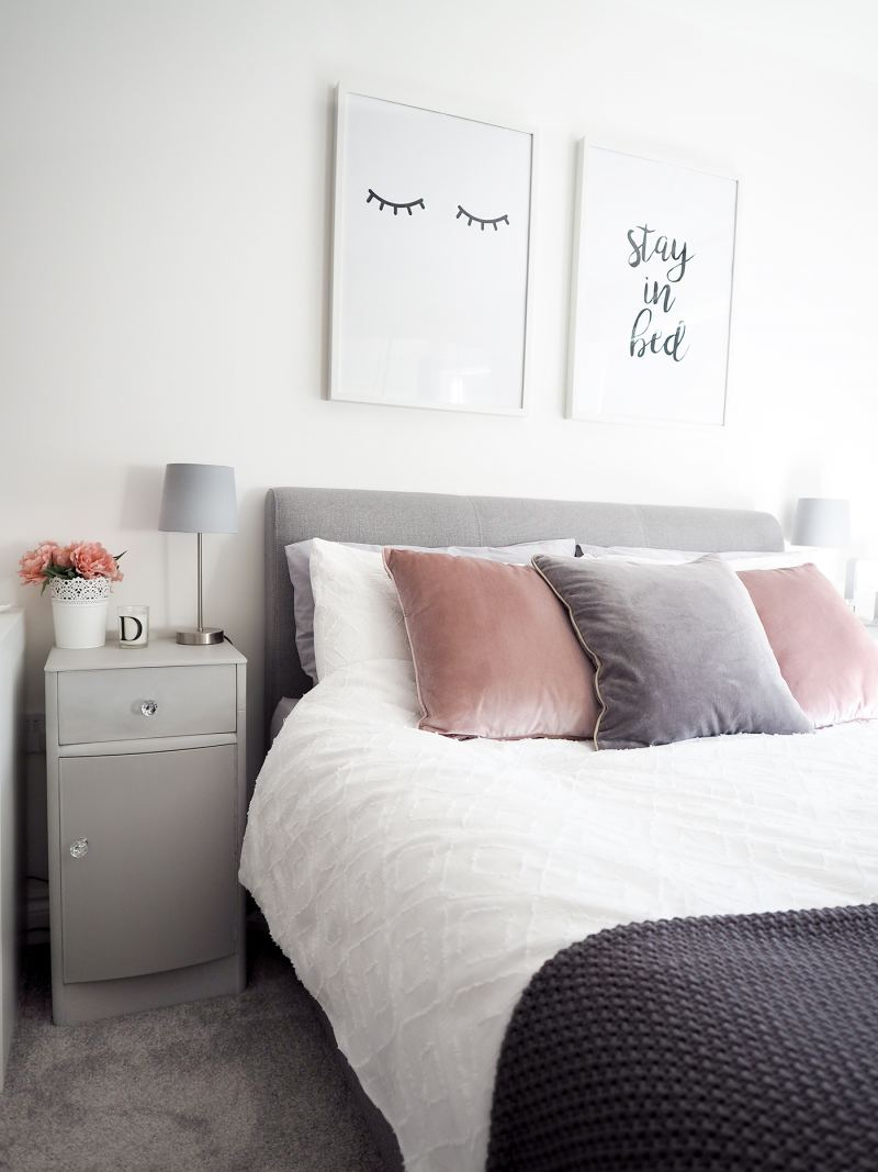 bedroom tour pink and grey bedroom decor bang on style 18834 | pink and grey bedroom decor 2 800x1067