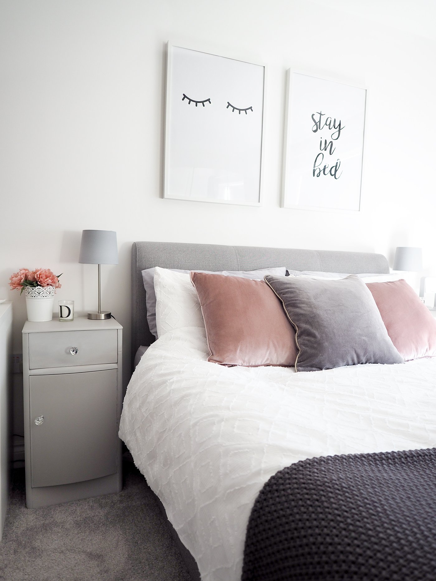 bedroom tour pink and grey bedroom decor bang on style 18815 | pink and grey bedroom decor 2