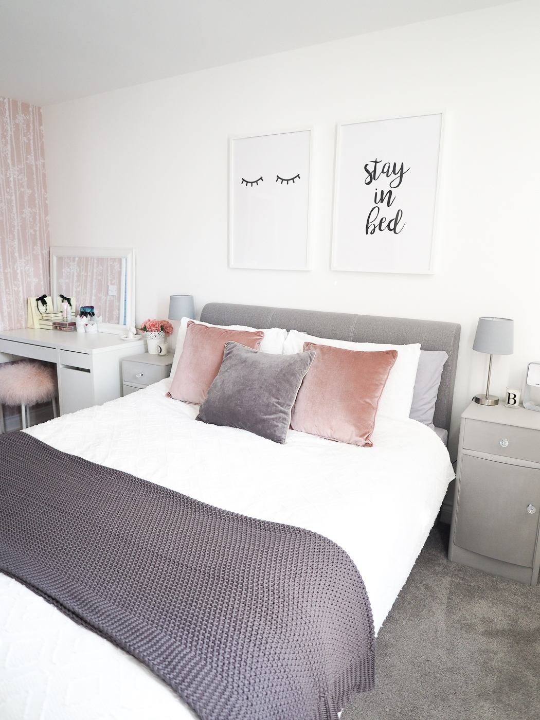 Bedroom Tour | Pink and Grey Bedroom Decor - Bang on Style