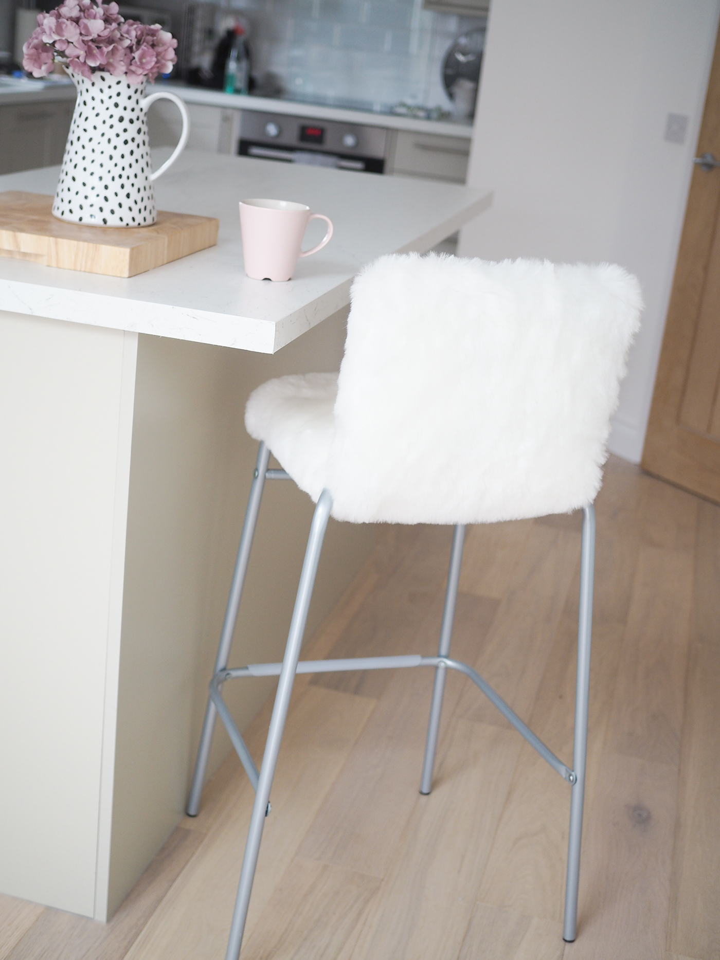 new product 7c46e 5761d DIY Faux Fur Bar stool Tutorial | IKEA Hack - Bang on Style