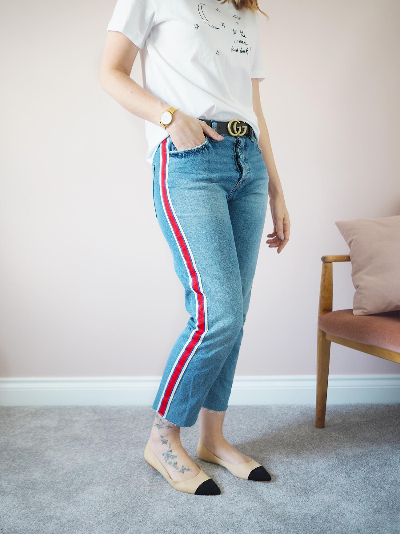 new in my wardrobe zara striped jeans
