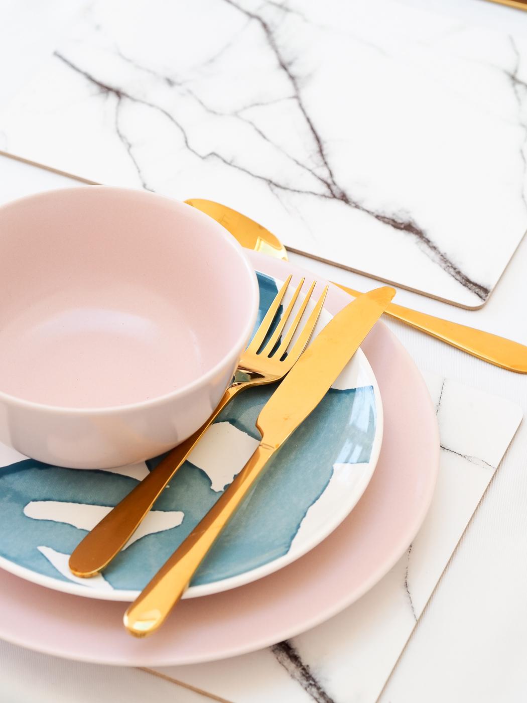 pink  IKEA plates and dishes