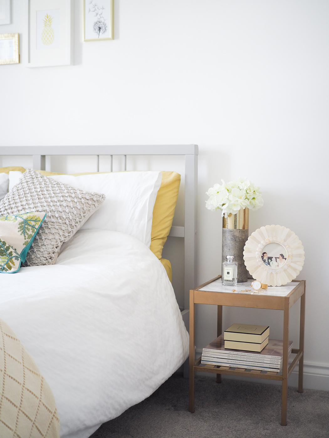 Spare Room ideas | Grey, Green & Gold Decor - Bang on Style