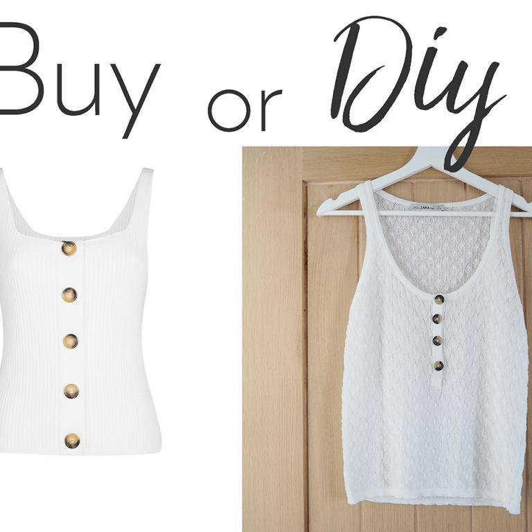 buy or diy tortoiseshell button vest top
