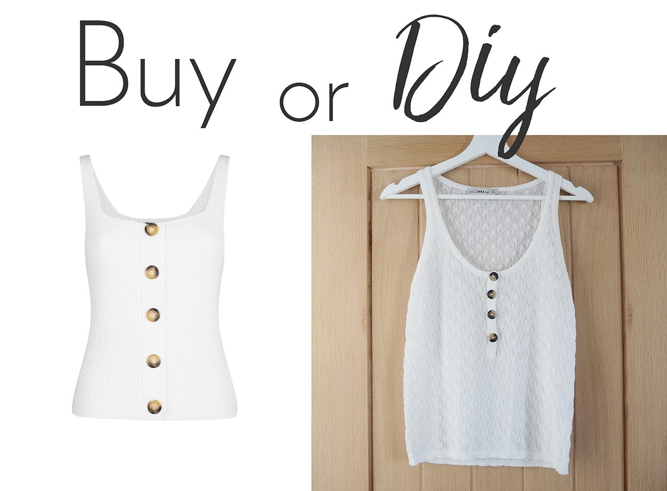 buy or diy tortoiseshell button vest top