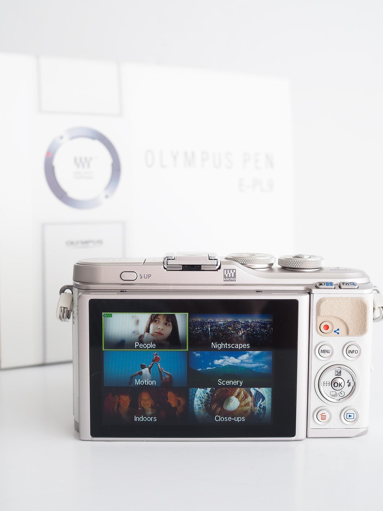 Olympus Pen EPL9 Camera simple shooting options