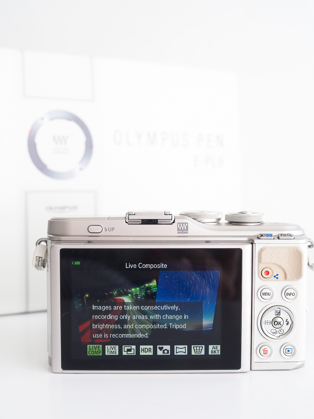 Olympus Pen EPL9 Camera advanced photo option