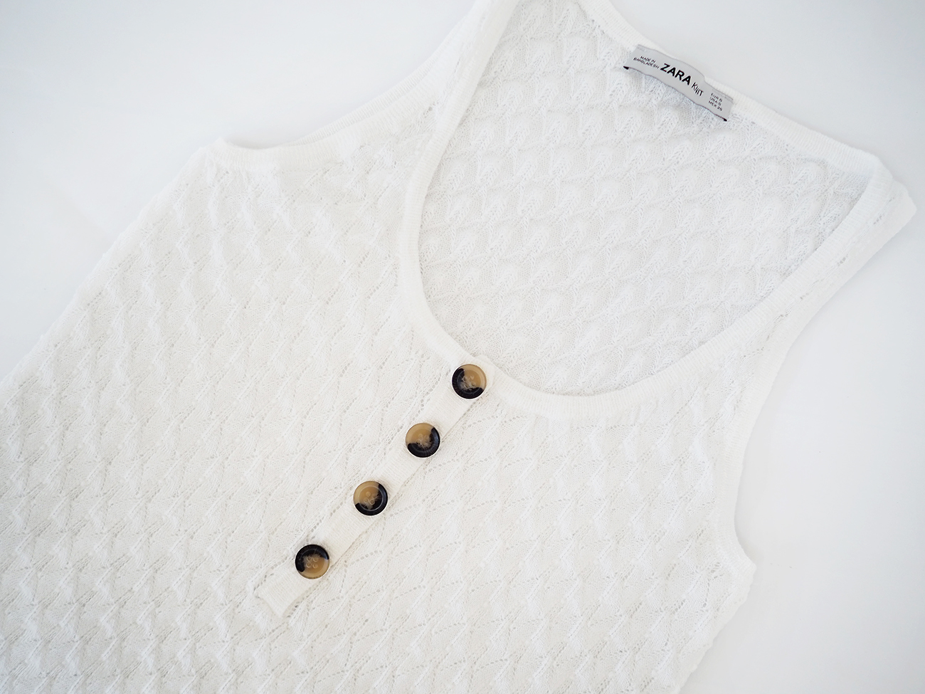 tortoiseshell button vest top