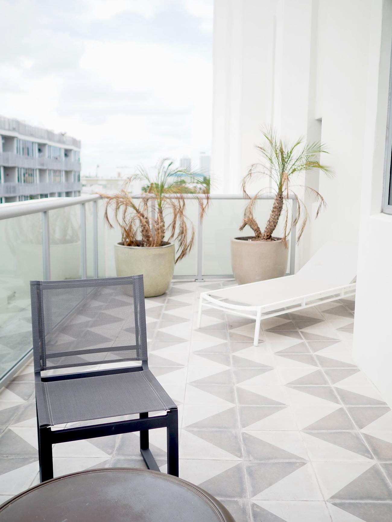 the Plymouth Hotel Miami terrace