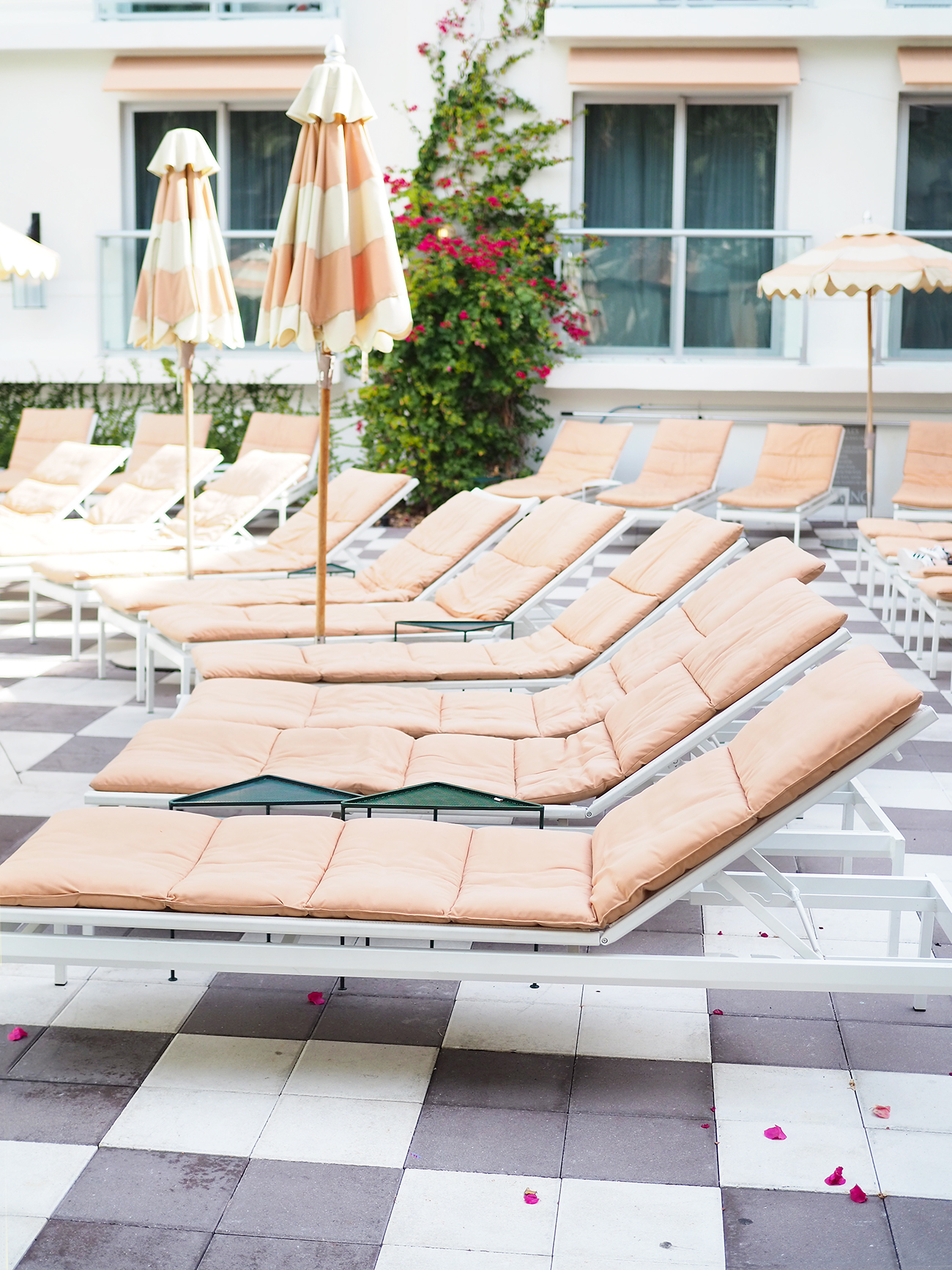 the Plymouth Hotel Miami pool area