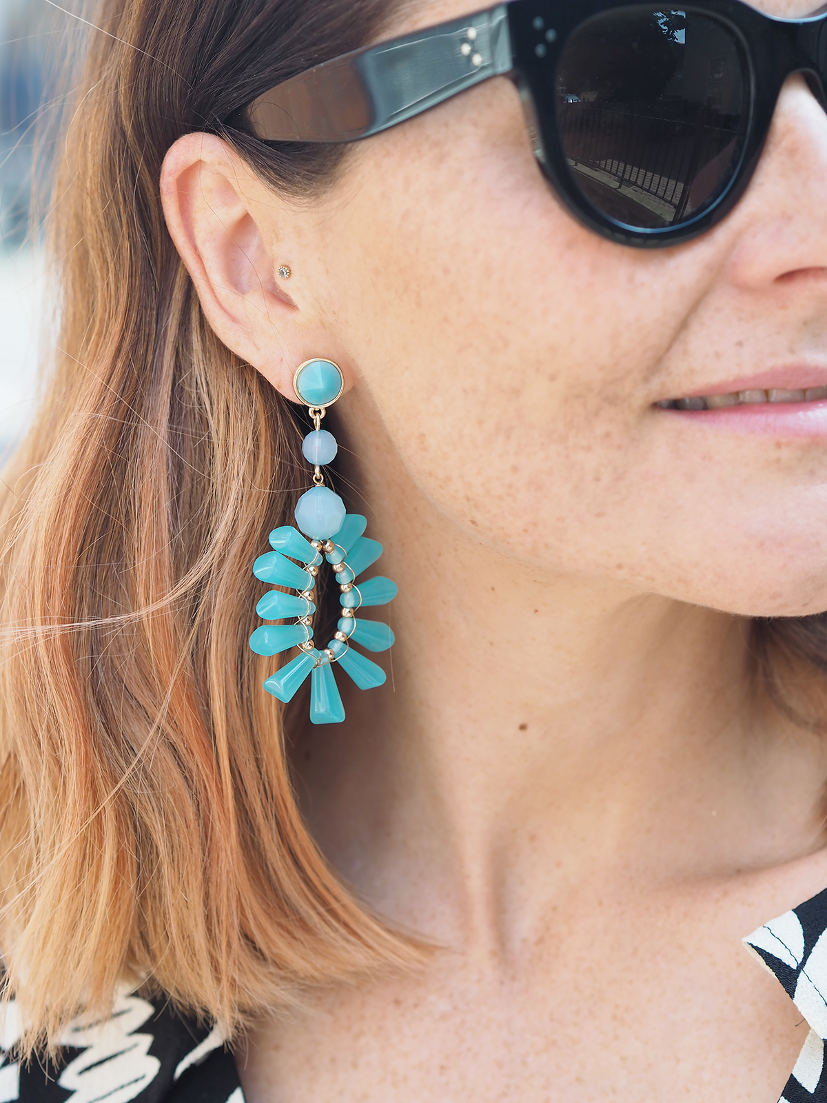 Marks and Spencer turquoise earrings