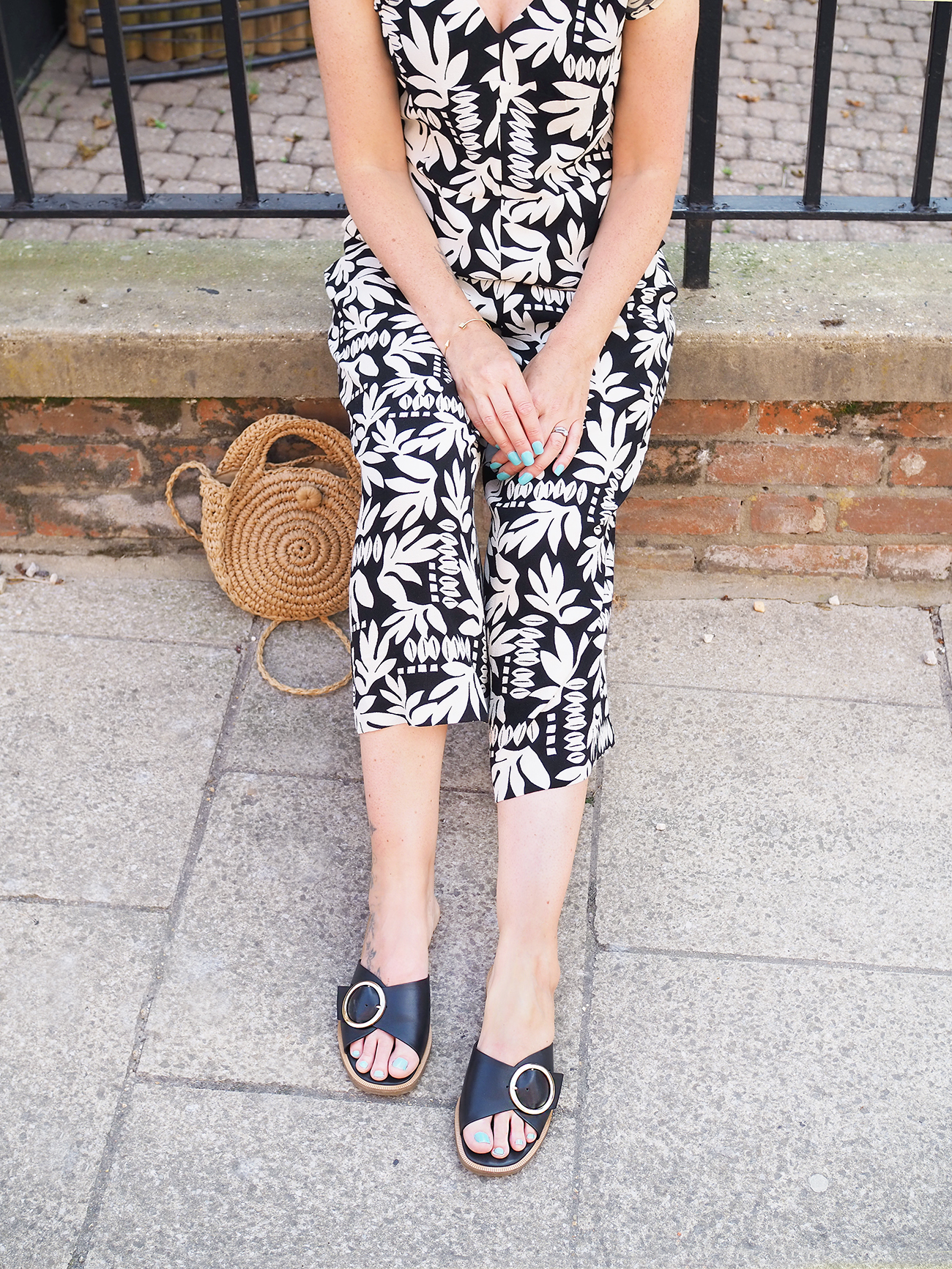Marks and Spencer sandals and jumpsuit