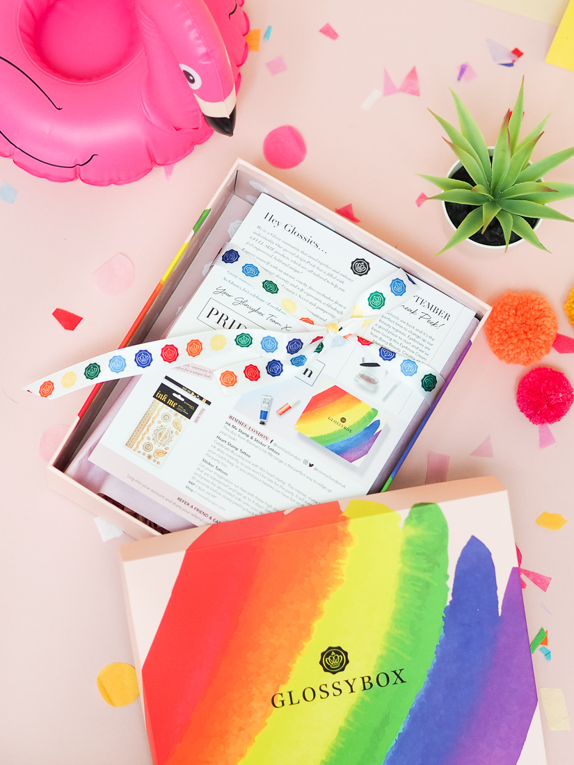 August Pride Glossybox contents
