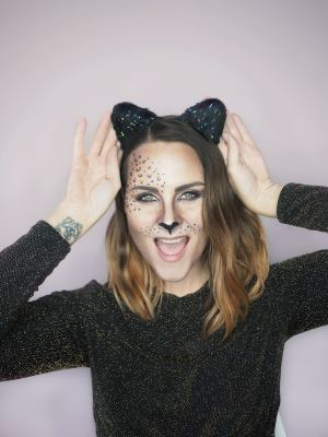 leopard Halloween cat makeup