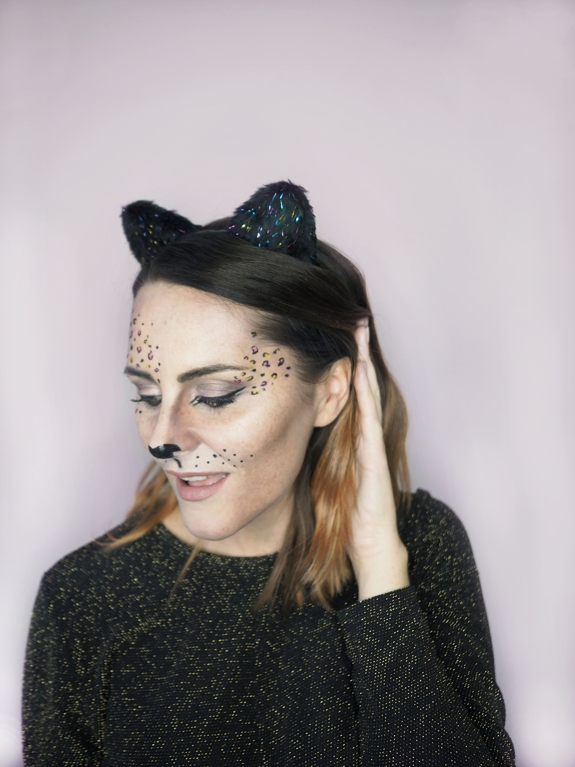 leopard Halloween cat makeup