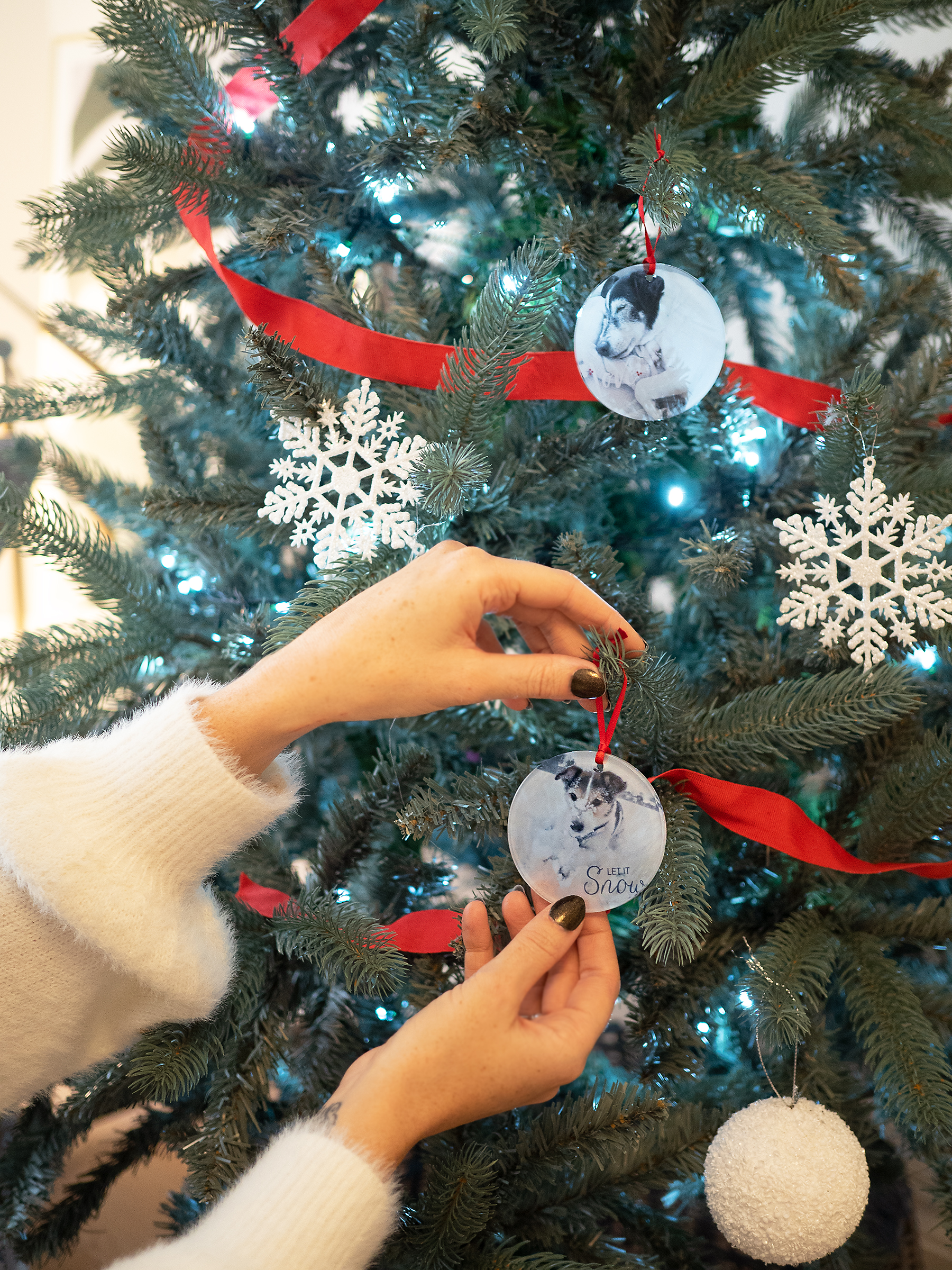 Snapfish personalised Chrismas tree ornaments