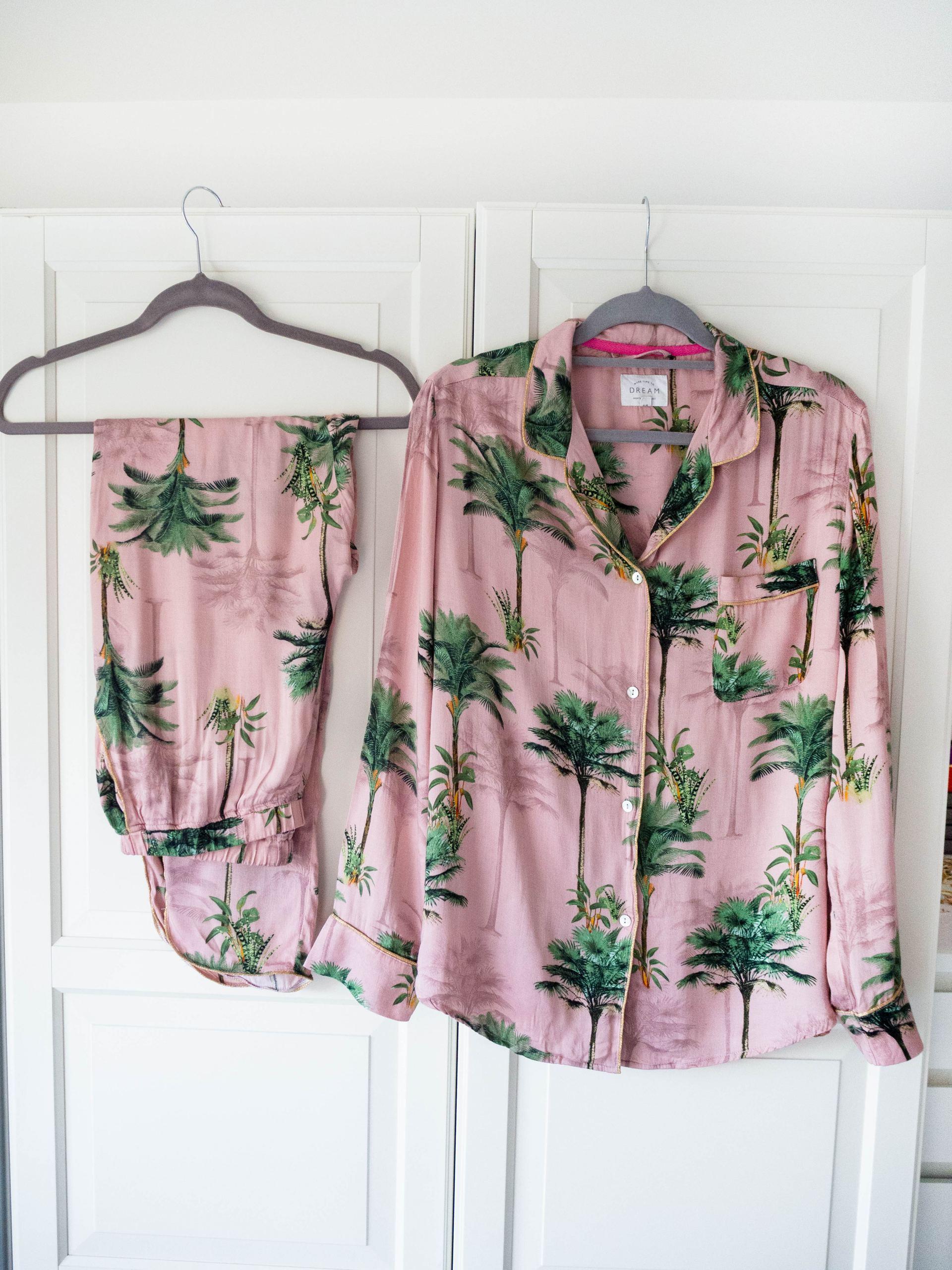 pink palm pyjamas