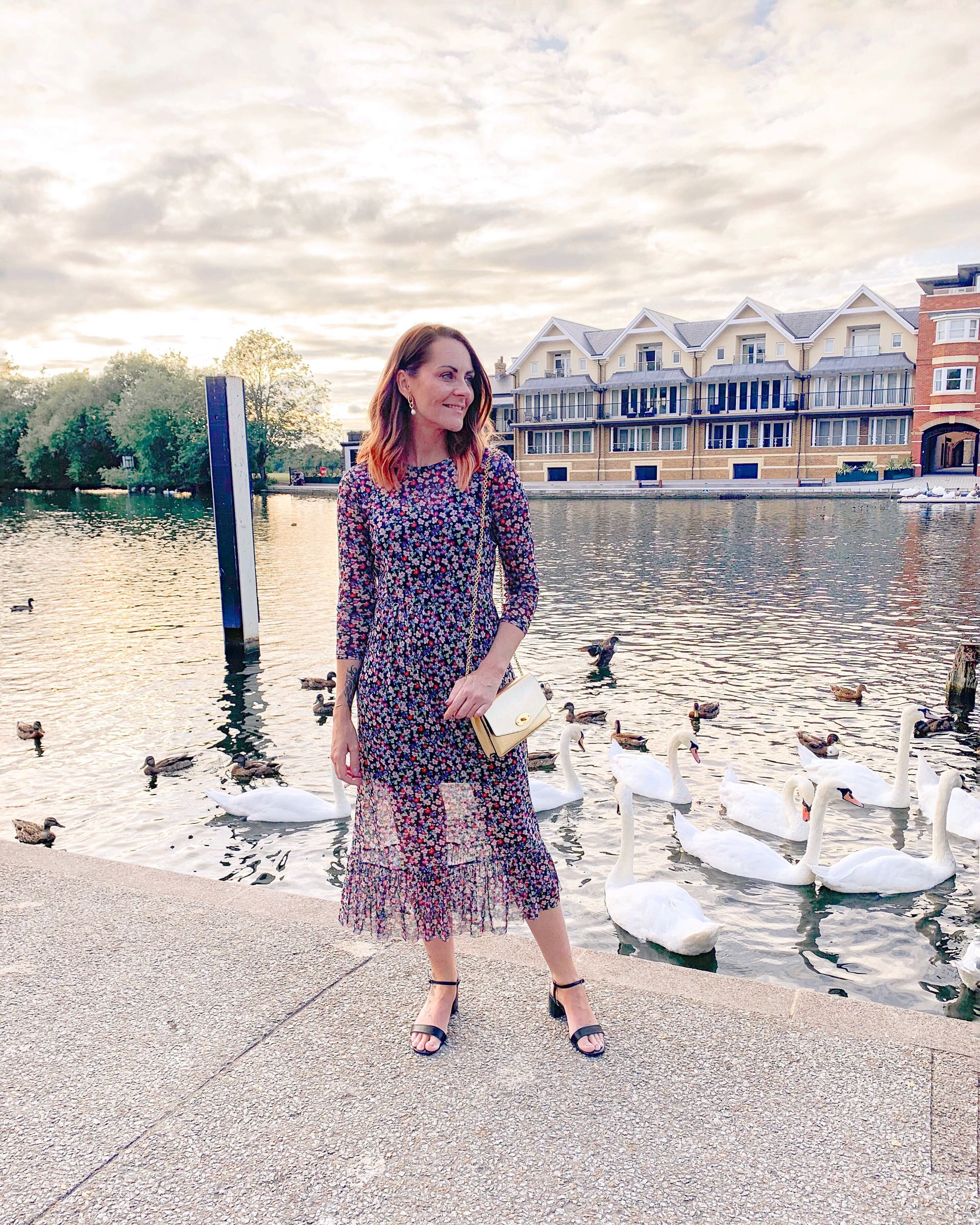 floral midi dress new look outfit